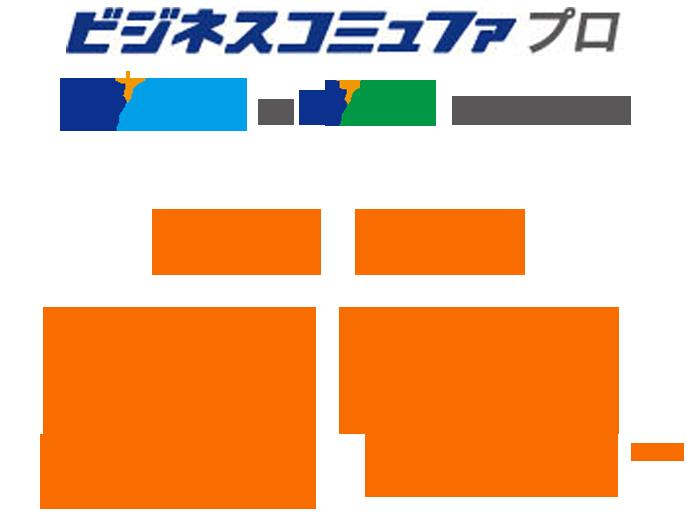 ビジネスコミュファプロ光ネット光電話月額5219円税抜~